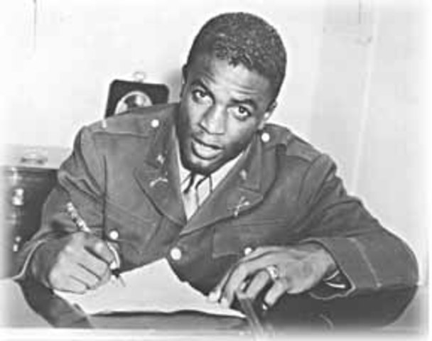Jackie was drafted to the army
