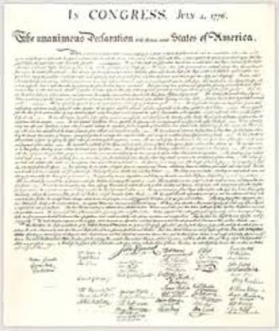 Annoncement of Declaration of Independence