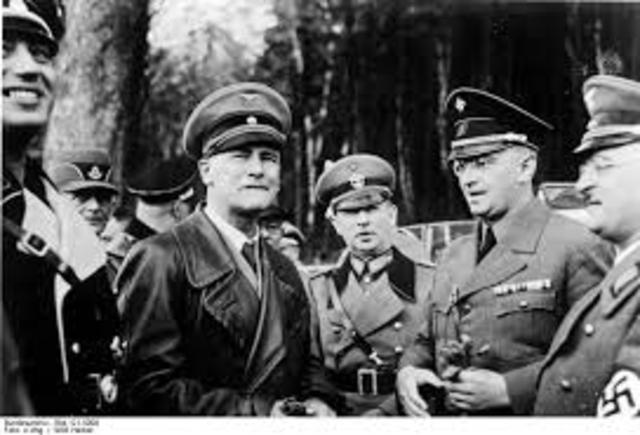 Henlein left Czechoslovakia
