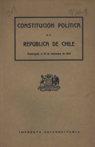 La Constitución de 1925