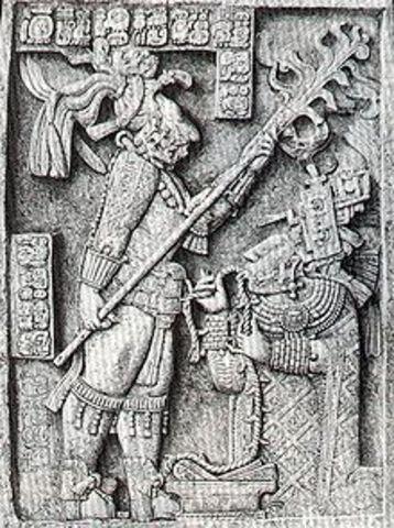 King Itzamnaaj B'alam II or the King Shield Jaguar the great becomes the king of Yaxchilan