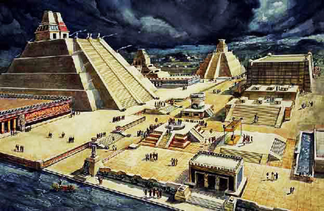 Tenochtitlan becomes the Aztec's Capital City marks the beginning of the Aztec Empire