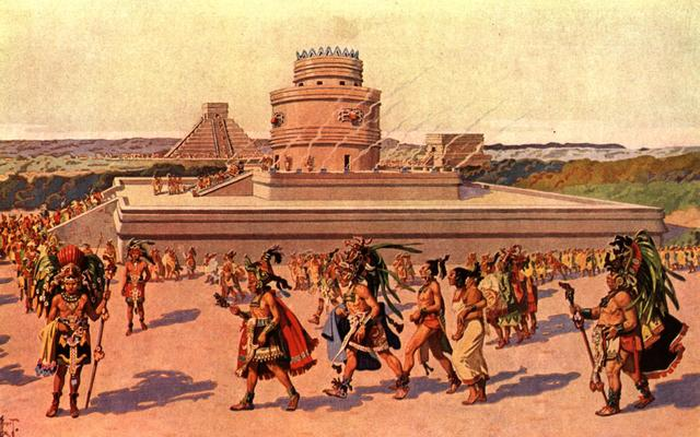 Fall of the Mayapan city, and the End of the Mayan Civilizations