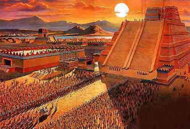 Tenochtitlan city formed the biggest pyramid for sacrafices.