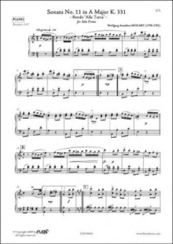 Sonata per a piano alla turca, en la major, KV 331 – Mozart