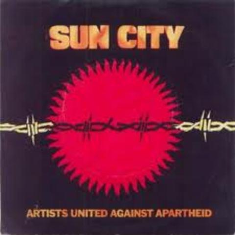 Musicians form Artists United Against Apartheid