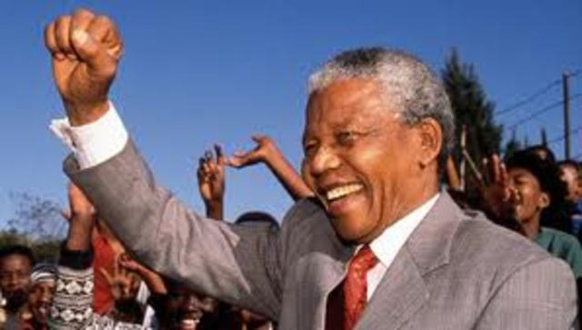 Nelson Mandela becomes president of South Africa