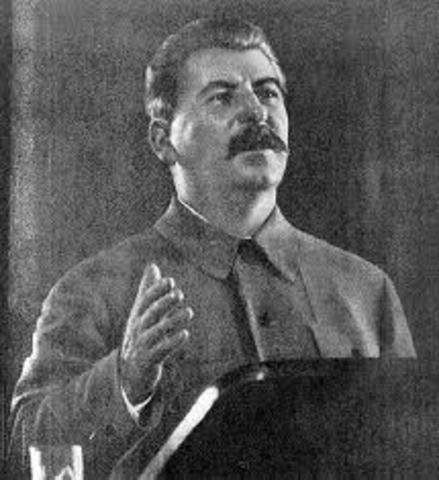 Stalin gave a speech