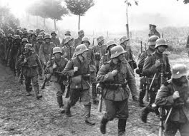 Germany invaded what was left of Czechoslovakia