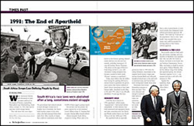 Countries around the world try to end the Apartheid in South Africa