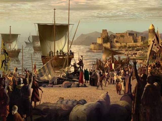 Llegada a la ciudad de Acre