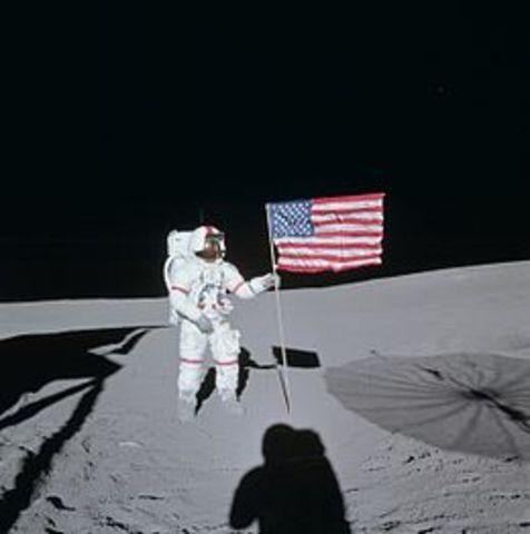 Apollo 14 lands on the Moon