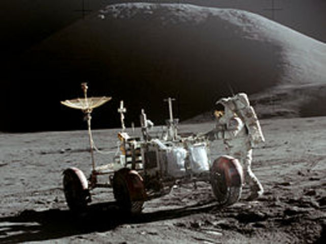 Apollo 15 lands on the Moon