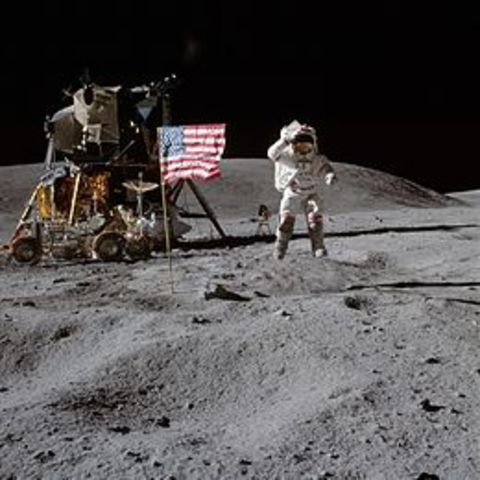 Apollo 16 arrives at the Moon