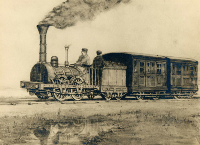 Completion of the first Canadian railway