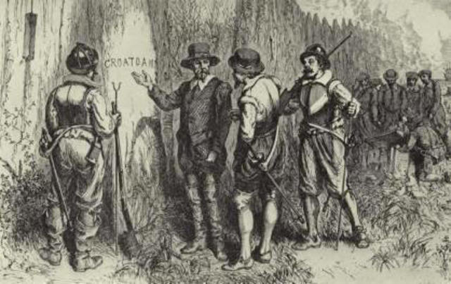 John White returns to the Roanoke settlement to find the colony has disappeared