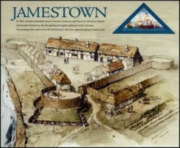 The English founded Jamestown