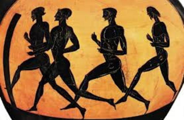 Últimos Juegos Olímpicos de la Antigüedad.