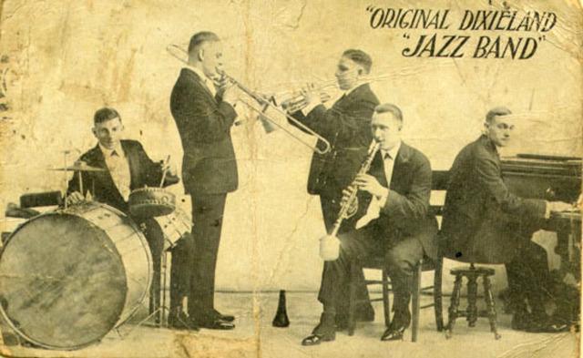 "The Original Dixieland Jazz Band records ""Tiger Rag"""