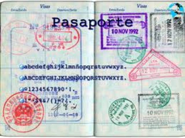 Licencia de viajero y pasaporte.