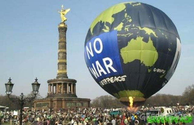 Protesta en contra de la guerra de Iraq