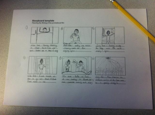 Sketched storyboard