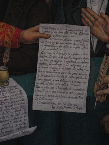Congreso de Chilpancingo y Sentimientos de la Nación.