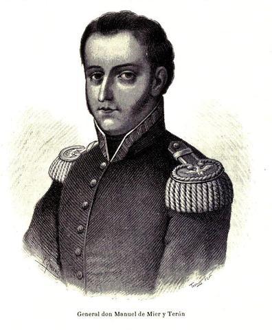 Mier y Terán y Vicente Guerrero derrotados.