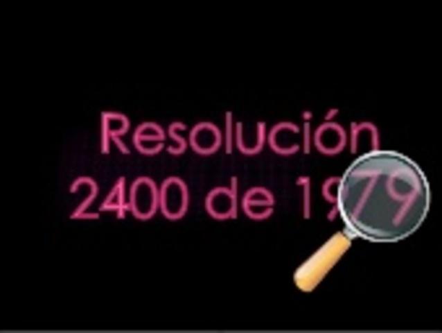 Resolución 2400 de 1979 o Estatuto de Seguridad Industrial