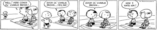Peanuts on Newspaper