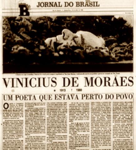 Morre Vinicius de Moraes