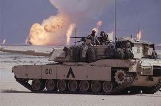 Operation Desert Storm begins in Kuwait