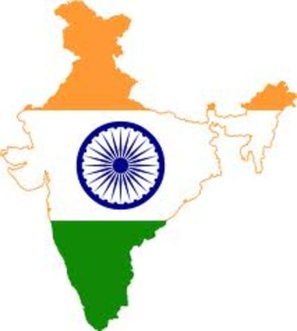 India gains independence from Great Britain
