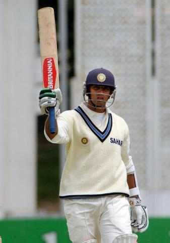 Dravid hits his first Double Century