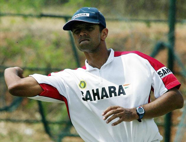 Dravid gets his First and Last Wicket