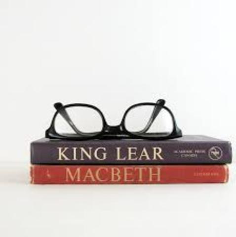"Shakespeare writes ""King Lear"" and ""Macbeth"""
