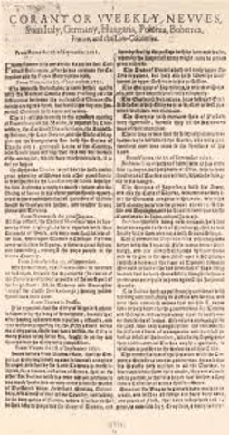 Newspapers are first published in London