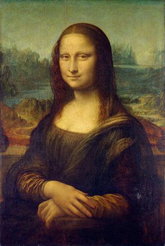 Leonardo da Vinci paints the 'Mona Lisa'