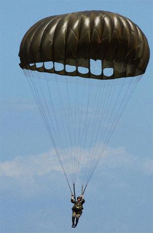 first soft-framed parachute