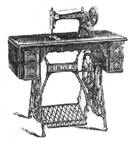 Patent of the sewing machine