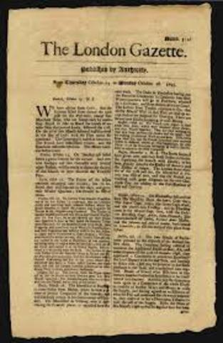 Newspapers are first published in London.