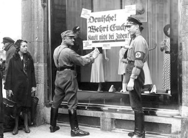 Boycott of Jewish Owned Shops & Businesses in Germany