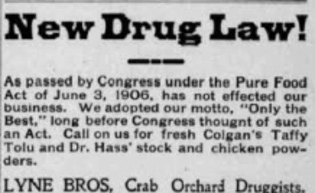 Pure Food & Drug Act