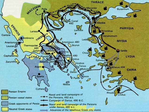 The First Persian War 493 BC