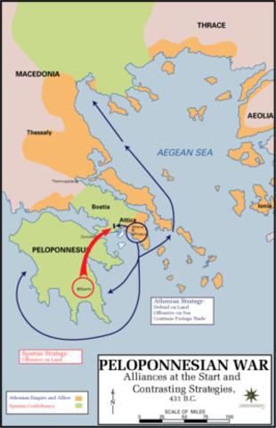 The Peloponnesian War 431 - 404 BC