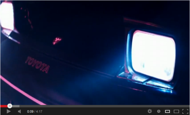 Shot of the headlight of the car