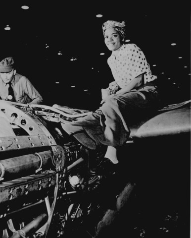 Riveter at Lockheed Aircraft Corp.