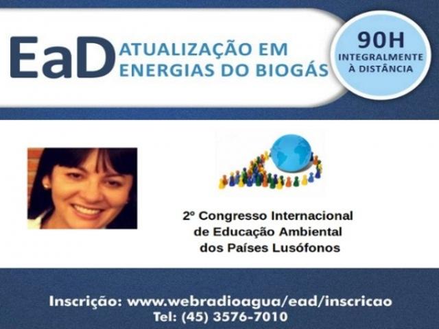 CURSO DE ATUALIZAÇÃO EM ENERGIAS DO BIOGÁS É APRESENTADO NO II CONGRESSO INTERNACIONAL DE EDUCAÇÃO AMBIENTAL