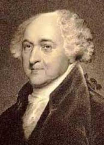 John Adams is elected president