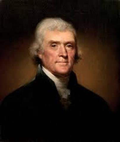 Thomas Jefferson is elected president president
